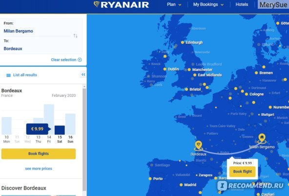 Ирландский лоукостер ryanair: советы и лайфхаки