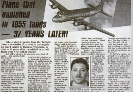 Пропавший самолет призрак исчез в 1955 году и приземлился через 37 лет